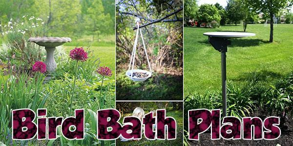 Bird Baths at PlansPin.com