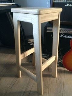Wooden Bar Stool - Mortise and Ten