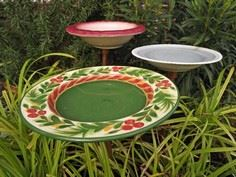 How to Make a Colorful Birdbath