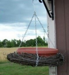 Grapevine Hanging Bird Bath