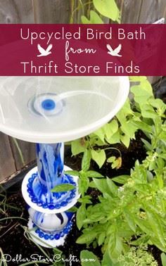 Tutorial: Upcycled Bird Bath