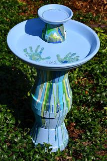 DIY Flower Pot Bird Bath with pour