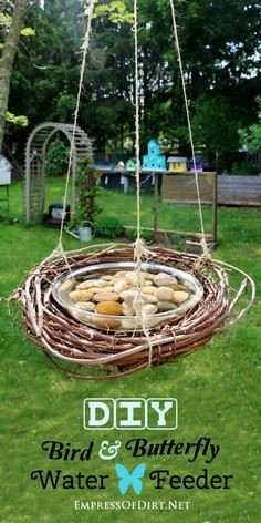 DIY BIRD & BUTTERFLY WATER FEE