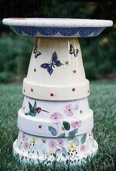 FLOWER POT BIRD BATH INSTRUCTIONS