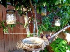 Grapevine Wreath Bird Bath and Tut