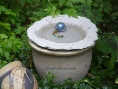 Soil Cement Bird Bath