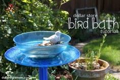 Make a Dollar Store Bird Bath