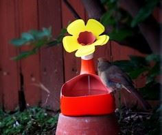 Recycled Bird Bath/Water Feeder