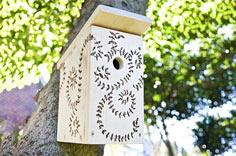Build your own birdhouse from scratch and add a personal touch with a burned-in pattern.