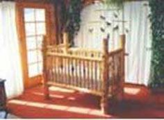 Log Baby Crib and more free crib and cradle plans.