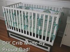 Modern homemade wooden baby crib