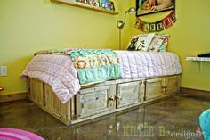 Build a Rustic Storage Bed