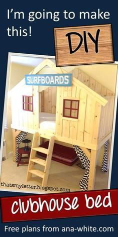 Ana White | Build a Clubhouse Bed
