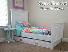 Simple Twin Bed Trundle