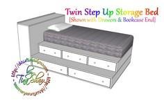 Twin Step Up Storage Bed