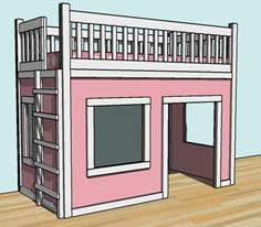 playhouse loft bed easy