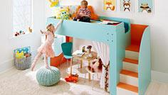 Kids' loft bed with stairs