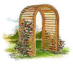 This sturdy arbor makes a romantic entryway