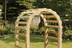 Building an arch-top arbor
