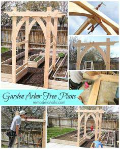 Vegetable Garden Arbor DIY Plans