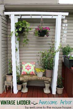 Vintage Ladder to Awesome Arbor