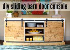Sliding Barn Door For A Console