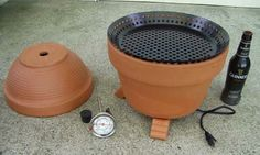 Make a DIY Flower-Pot Smoker