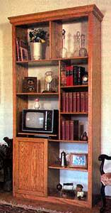 Built In Bookcase Boxed With Cabinet