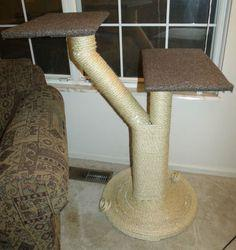 Two Platform Sisal Rope Cat Tree