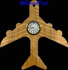 Airplane Clock Scroll Saw Pattern