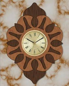 Free Scroll Saw Pattern: Layered Clock