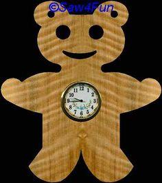 Teddy Bear Clock Scroll Saw Pattern
