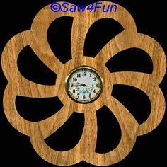 Flower #20 Clock Scroll Saw Pattern