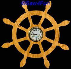 Ship Wheel Clock Scroll Saw Pattern
