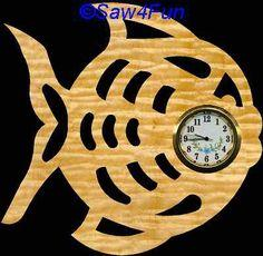 Fish Clock Scroll Saw Pattern