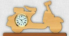 Free Scroll Saw Pattern: Vespa Mini Clock