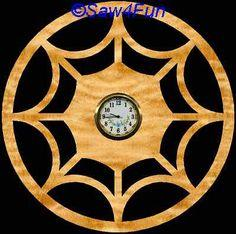 Spider Web Clock Scroll Saw Pattern