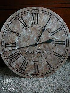 personalized wall clock tutorial