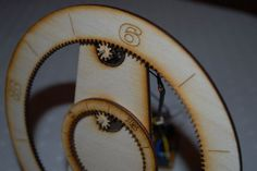 Laser cut gear clock tutorial