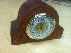 A mini tambour style desk clock – tutorial