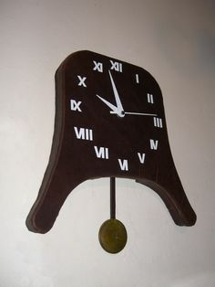 Leather Covered Pendulum Clock tutorial