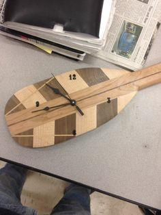Canoe Paddle Clock tutorial