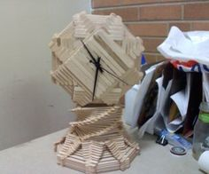 popsicle stick clock tutorial