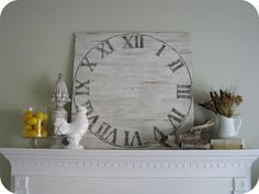 Knock-Off Pottery Barn Clock tutorial