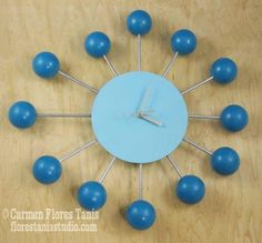 Mid-Century Inspired Retro Satellite Ball Clock tutorial