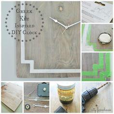 Greek Key Inspired DIY Clock tutorial