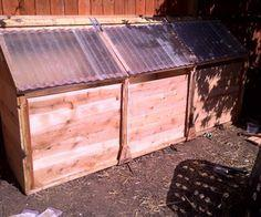 Chicken-Powered Three-Stage Compost Bin