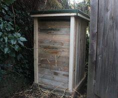 Pallet Wood Straw Bale Compost Bin