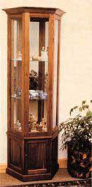 Curio Cabinet Octagon