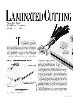 Laminated Cutting Board
